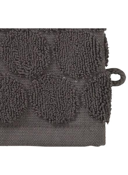 washandje zware kwaliteit - stip - donkergrijs - 5200064 - HEMA