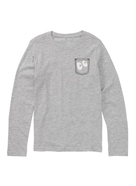 2-pak kinderpyjama's grijsmelange grijsmelange - 1000009220 - HEMA