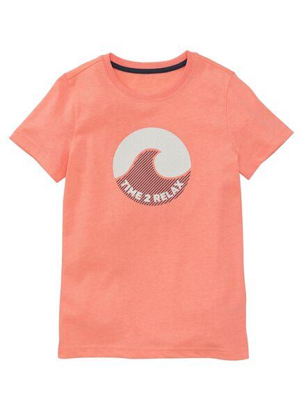 kinder t-shirt koraalroze koraalroze - 1000006675 - HEMA
