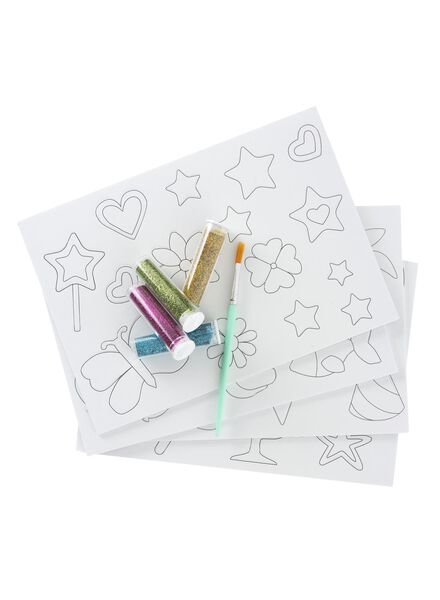 maak je eigen glitter stickers - 15960021 - HEMA