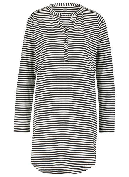 dames nachthemd zwart/wit zwart/wit - 1000015498 - HEMA