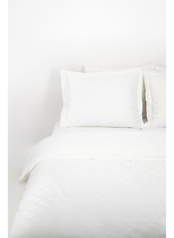 HEMA Dekbedovertrek Hotel Katoen Satijn Stip Wit (wit)