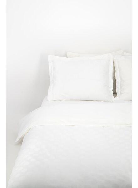 dekbedovertrek - hotel katoen satijn - stip wit wit - 1000014288 - HEMA