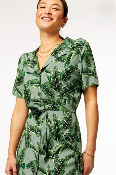 damesjurk bladeren lichtgroen lichtgroen - 1000023880 - HEMA
