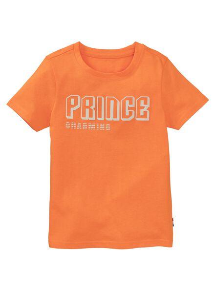 kinder t-shirt oranje oranje - 1000012887 - HEMA