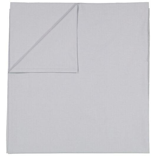 laken - 200 x 255 - zacht katoen - lichtgrijs - 5100023 - HEMA