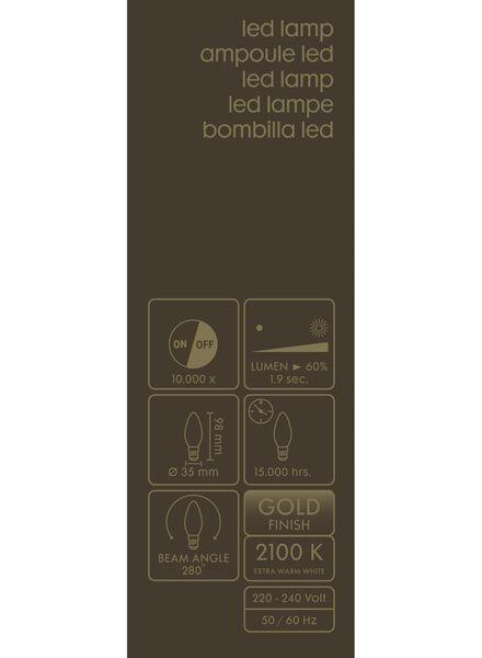 LED lamp 3,5W - 200 lm - kaars - goud - 20020073 - HEMA
