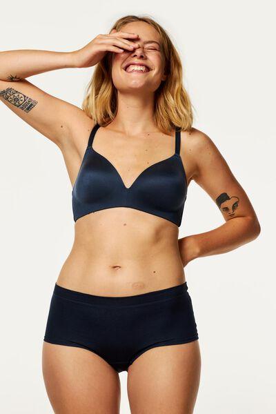 damesboxer real lasting cotton donkerblauw donkerblauw - 1000020723 - HEMA