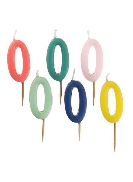 cijferkaars 0 multicolor 80 ml - 14230054 - HEMA