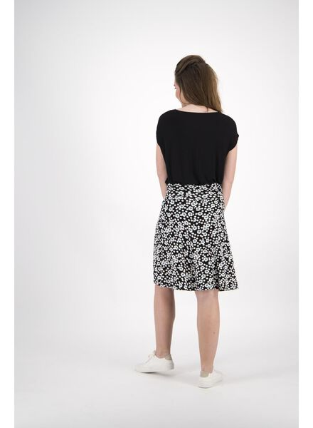 damesrok zwart/wit zwart/wit - 1000013892 - HEMA