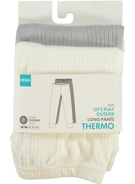 2-pack meisjes thermoleggings wit wit - 1000001667 - HEMA