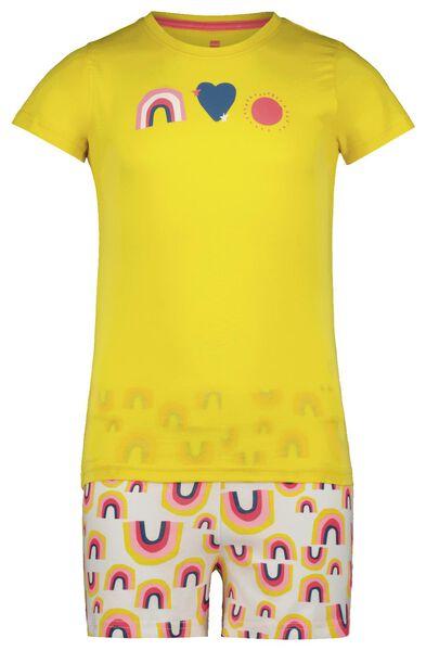kindershortama regenboog geel geel - 1000023820 - HEMA