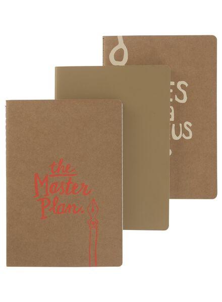 3-pak A5 notitieboekjes - 14101228 - HEMA