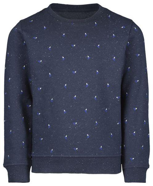 kindersweater donkerblauw donkerblauw - 1000021436 - HEMA