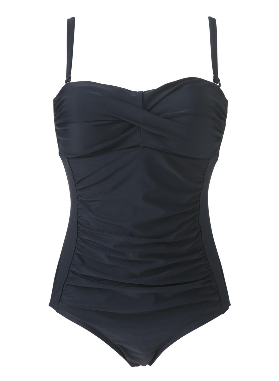 HEMA Damesbadpak Control Donkerblauw (donkerblauw)