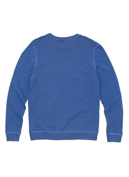 herensweater blauw blauw - 1000006019 - HEMA