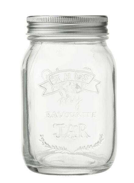 glazen pot 0.5 liter - 80810170 - HEMA