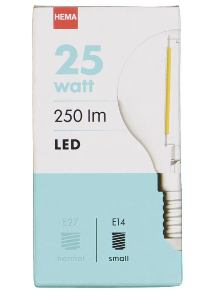 LED lamp 25W - 250 lm - kogel - helder - 20020028 - HEMA