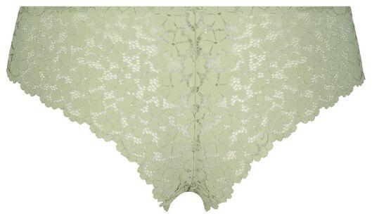B.A.E. damesbrazilian kant bloemen lichtgroen lichtgroen - 1000022601 - HEMA