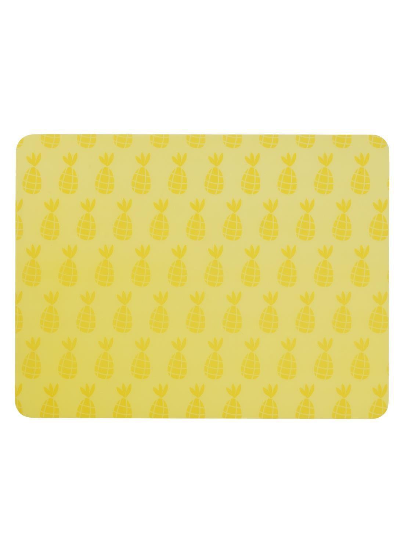 HEMA Placemat - 32 X 42 - Kunststof - Geel Ananas (geel)