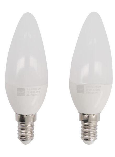 LED lamp 40W - 470 lm - kaars - mat - 2 stuks - 20090038 - HEMA
