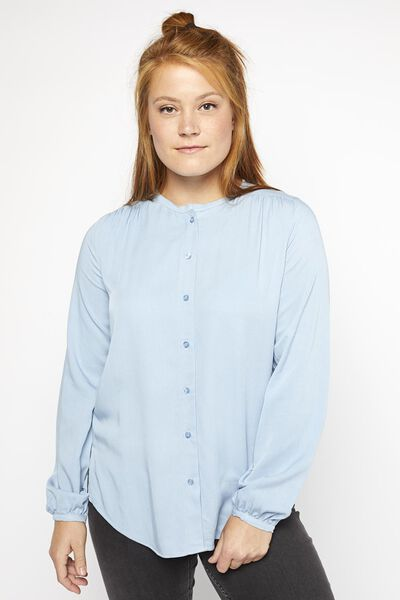 damesblouse blauw blauw - 1000021357 - HEMA