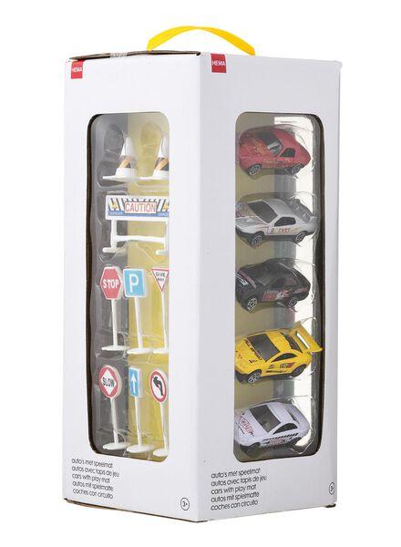 auto's met speelmat - 15190132 - HEMA