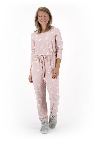 damespyjama micro roze - 1000020326 - HEMA