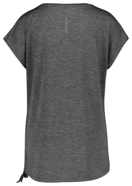 dames sportshirt loose fit gerecycled grijsmelange XL - 36060134 - HEMA