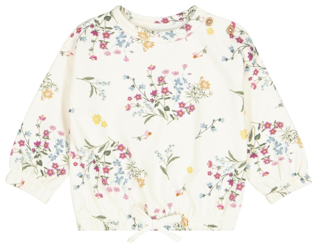 HEMA Baby Sweater Bloemen Gebroken Wit (gebroken wit)