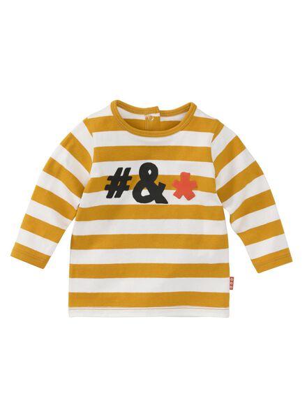 baby t-shirt donkergeel donkergeel - 1000008455 - HEMA