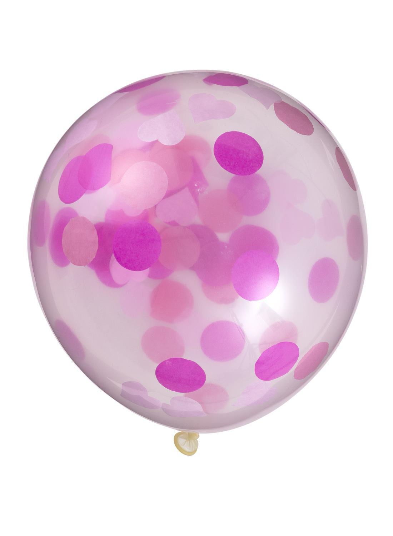 HEMA 6-pak Confetti Ballonnen (roze)