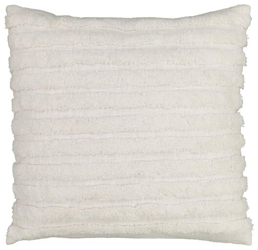 Dagaanbieding - kussen gevuld 50x50 streep wit dagelijkse koopjes
