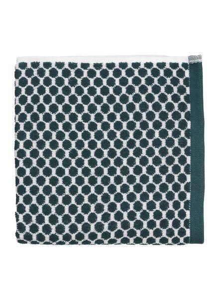 handdoek - 50 x 100 - zware kwaliteit - groen stip - 5210030 - HEMA