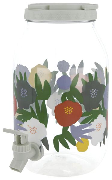limonadetap 3.75L plastic bloemen - 41820415 - HEMA