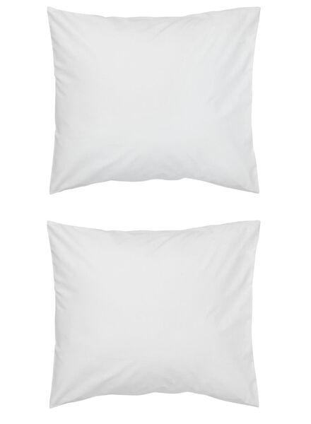 kussenslopen - zacht katoen - wit wit 60 x 70 - 5140139 - HEMA