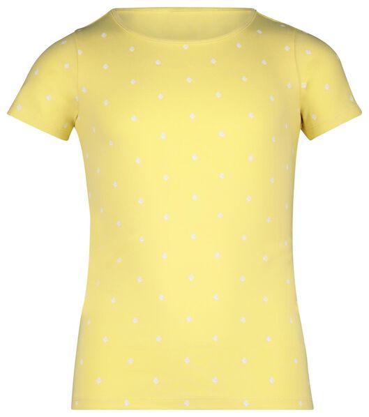 kinder t-shirt geel geel - 1000019786 - HEMA