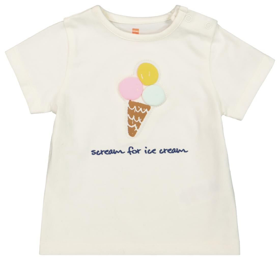 HEMA Newborn T-shirt - Biologisch Katoen Wit (wit)