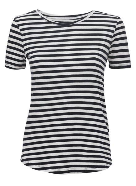 dames t-shirt donkerblauw donkerblauw - 1000011991 - HEMA