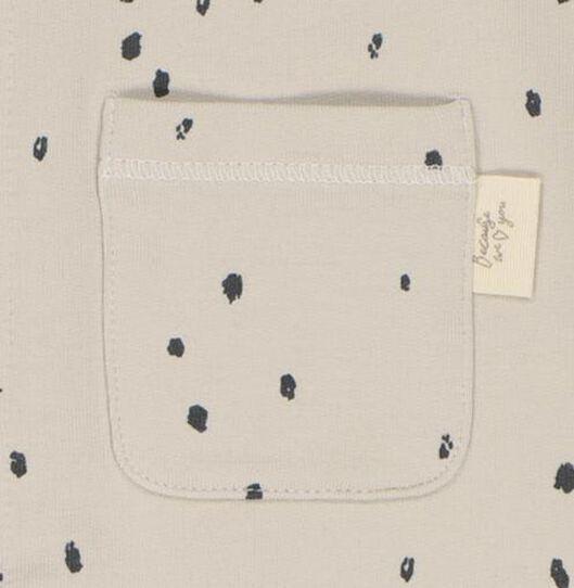 newborn jumpsuit met bamboe zand zand - 1000021039 - HEMA