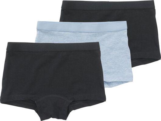 3-pak kinderboxers donkerblauw donkerblauw - 1000017998 - HEMA