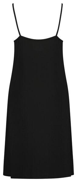 damesnachthemd kant viscose zwart M - 23400902 - HEMA