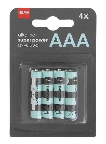 4-pak AAA batterijen - 41290261 - HEMA