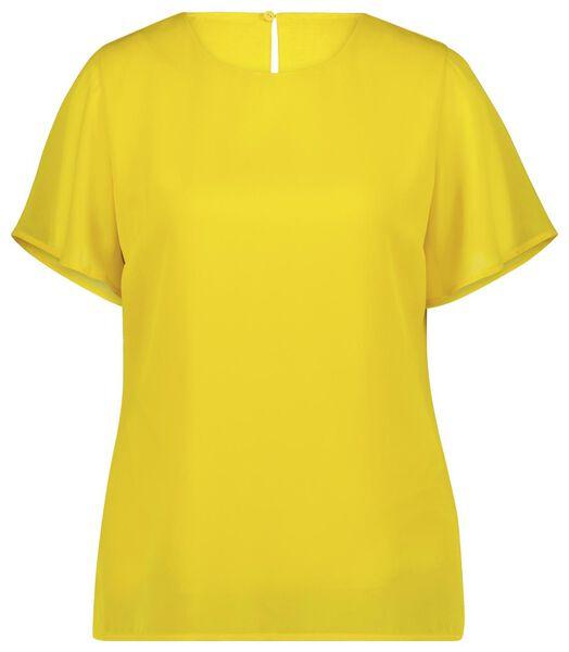 dames top geel L - 36298088 - HEMA