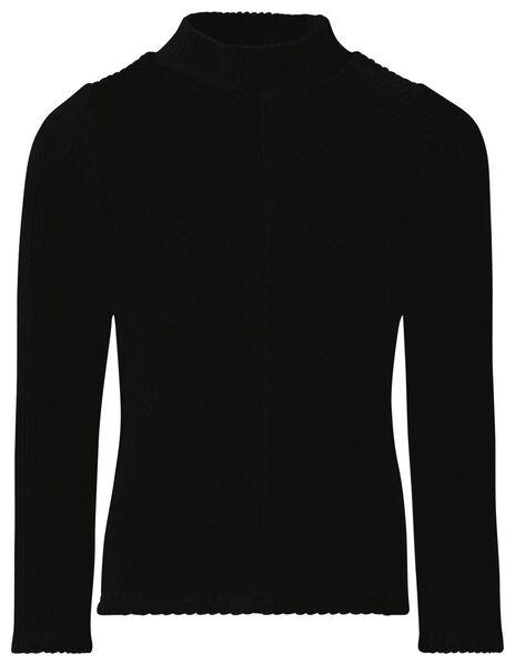 kinder top corduroy zwart 110/116 - 30867538 - HEMA