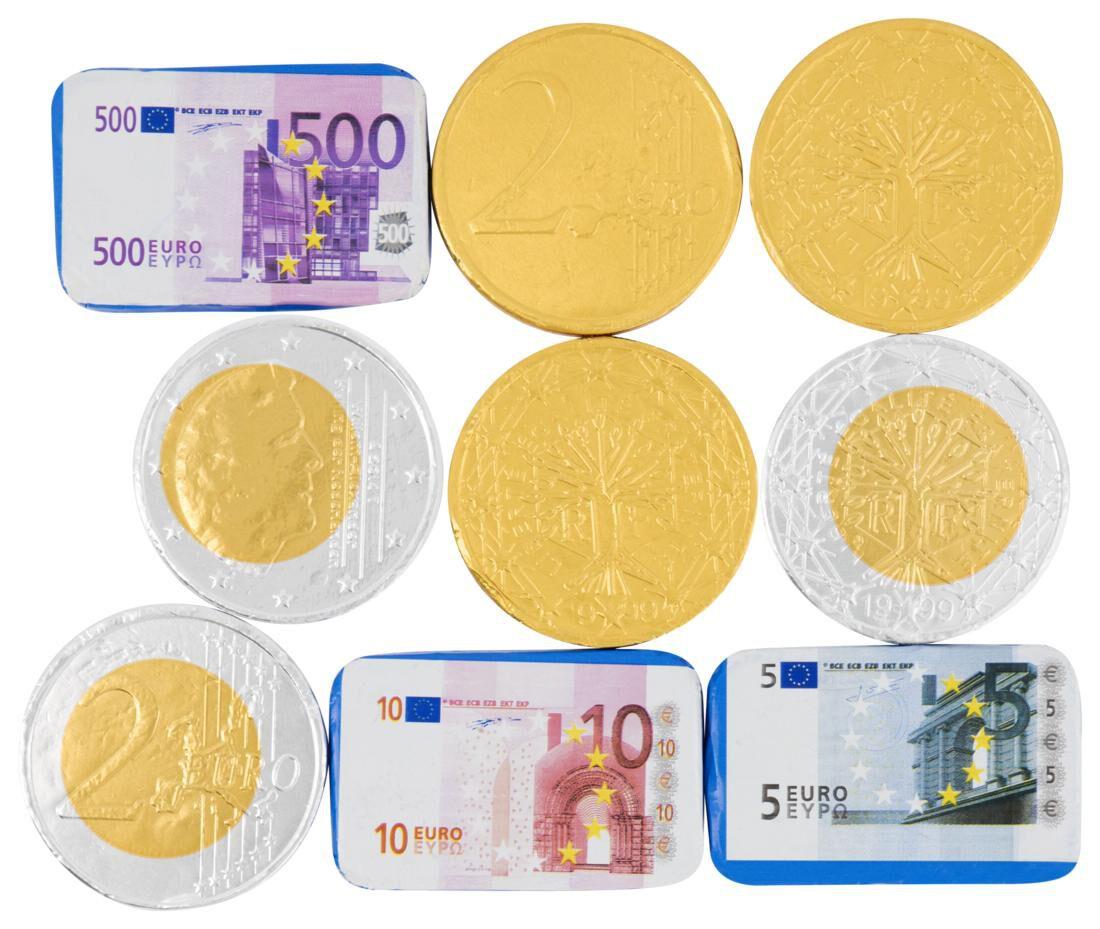 HEMA Melkchocolade Geld In Netje 125gram