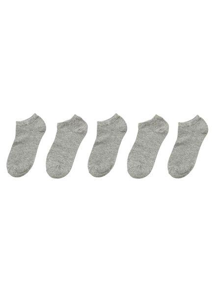 5-pak herensokken grijs grijs - 1000001523 - HEMA
