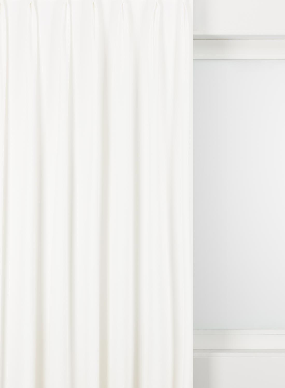 afbeelding van hema gordijnstof velours blanc