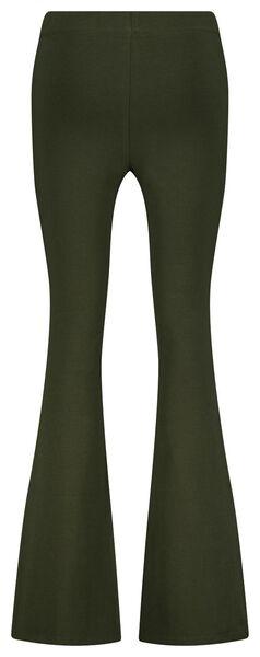 dames legging flared donkergroen M - 36224142 - HEMA