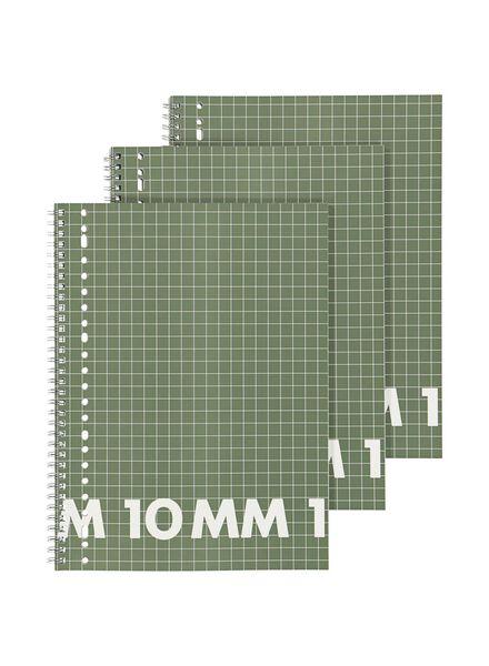 collegeblok A4 - geruit 10 x 10 mm - 3 stuks - 14101657 - HEMA